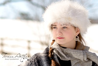 snow photo session by teresa arthur photography
