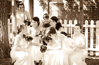 bride with bridesmaids picture by teresa arthur photography