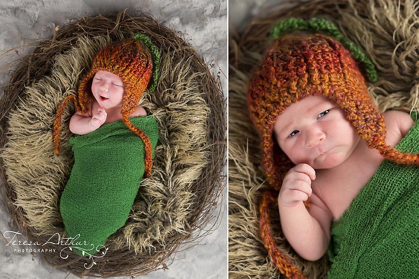 Fall themed newborn portrait by Teresa Arthur Photography