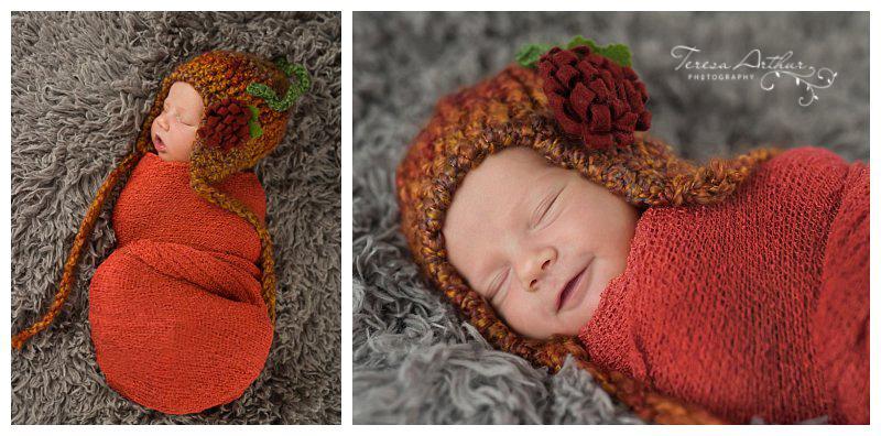 halloween newborn portrait by teresa arthur photography in nova