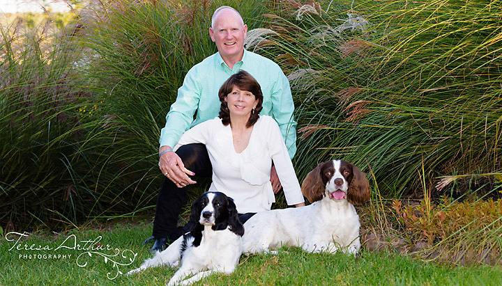 Family photos with pets by Teresa Arthur Photography