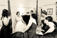 bride in cottage at fauquier springs country club