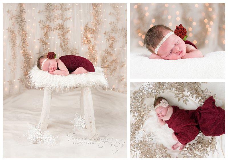 christmas newborn portraits in northern virginia