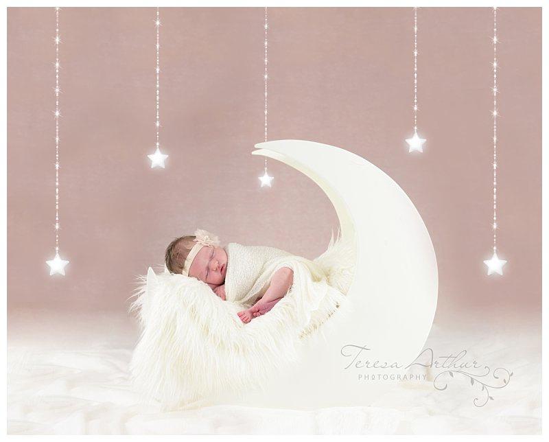 moon prop newborn photos