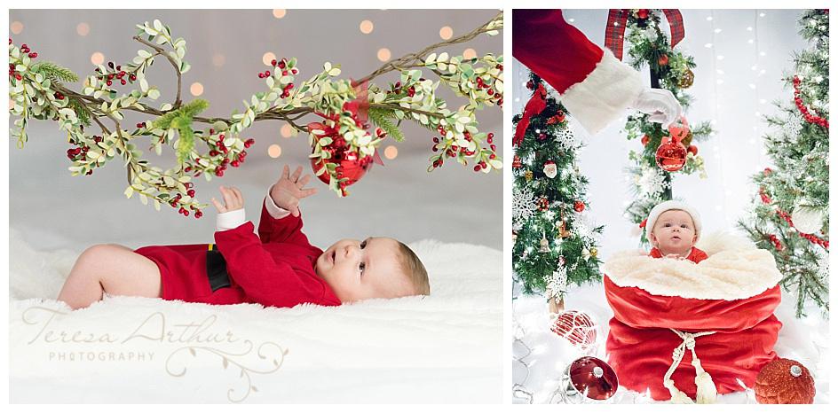 northern virginia christmas baby photos by teresa arthur photography