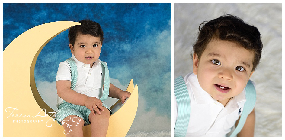 one year baby boy photo session