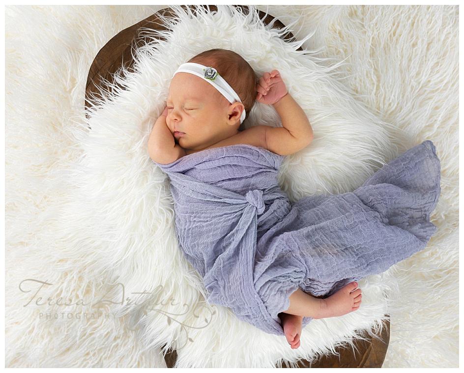 natural light studio newborn portraits by teresa arthur photography