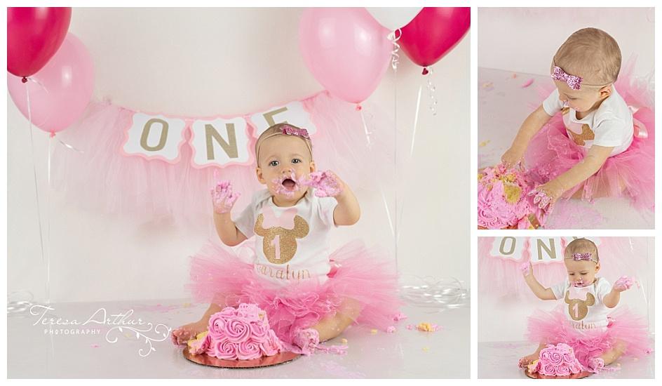 Northern Virginia Baby Cake Smash Photograher-Teresa Arthur Photography