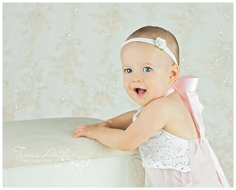 Milestone One Year Baby Portraits-Teresa Arthur Photography