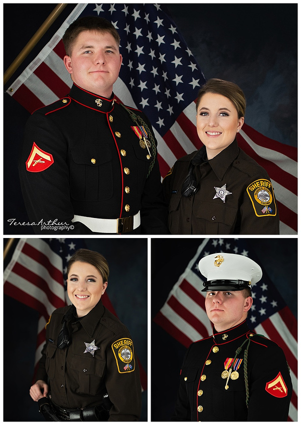 military service portraits by teresa artthur photography