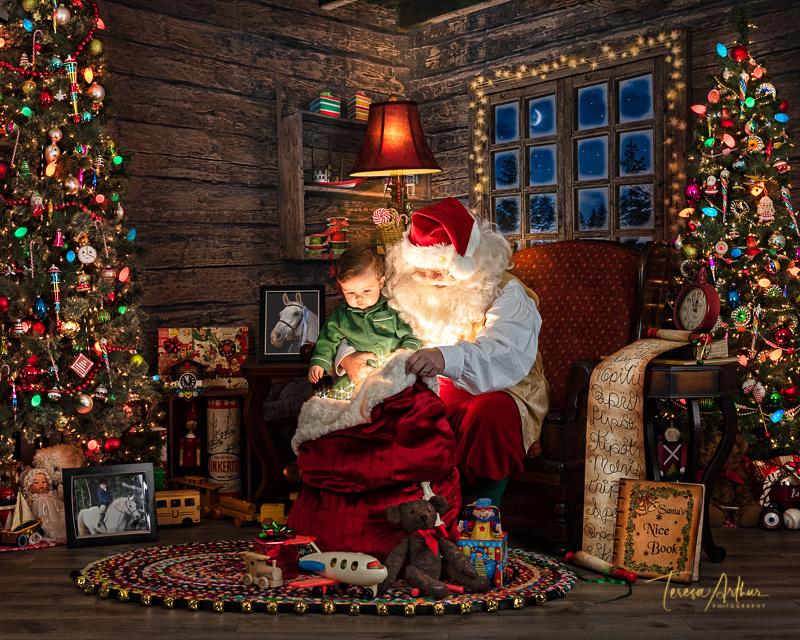 experience santa nostalgic portraits by teresa arthur photography
