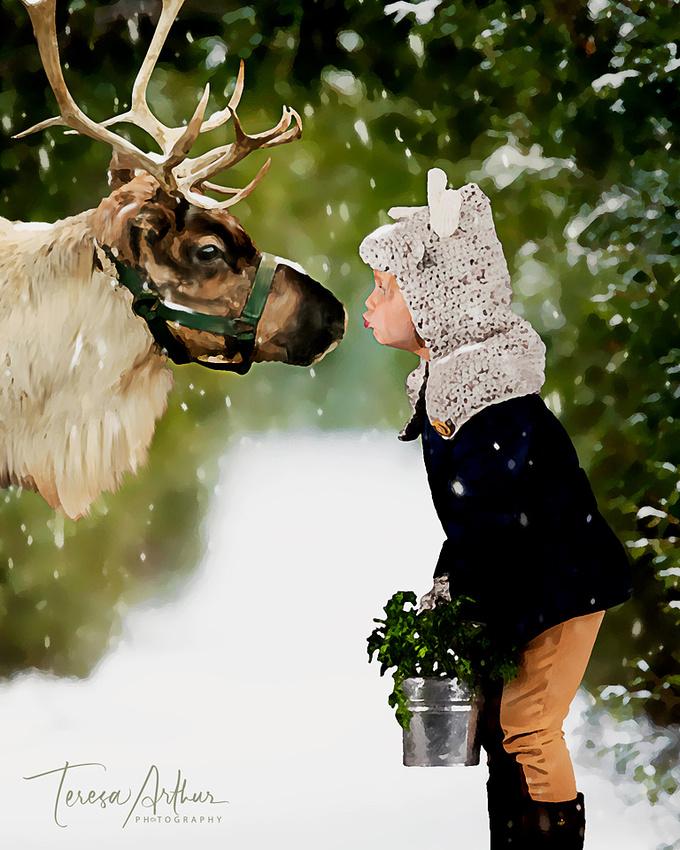 Kids with Reindeer by Teresa Arthur Photography, LLC-2019