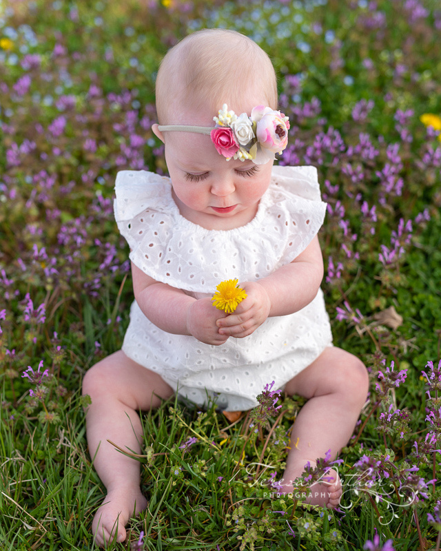 outdoor baby portrait by teresa arthur photography in northern virginia