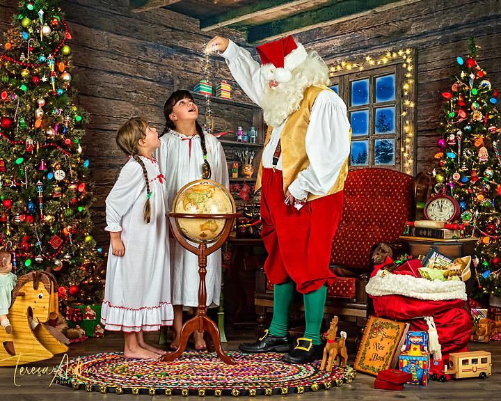 christmas santa pictures in nova area