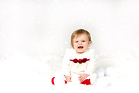 Six Month Baby Christmas Photo