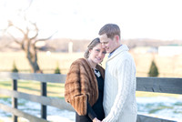 Outdoor farm engagement session in Winter