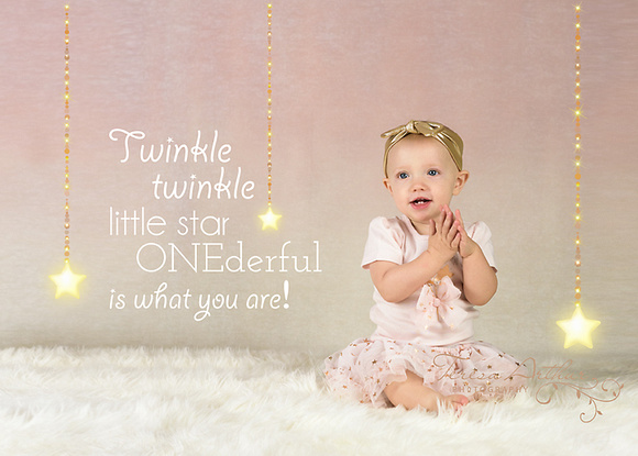 twinkle twinkle little star one year birthday photo session