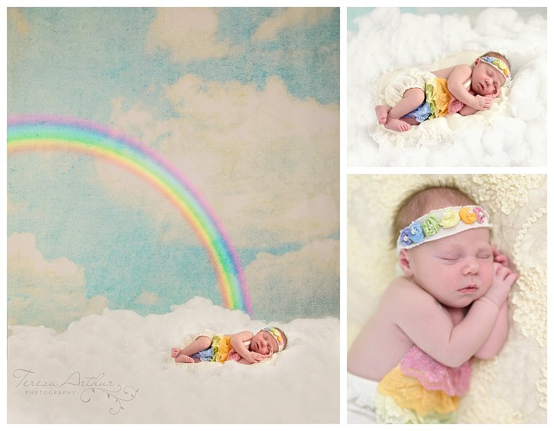 rainbow baby nova newborn photographer
