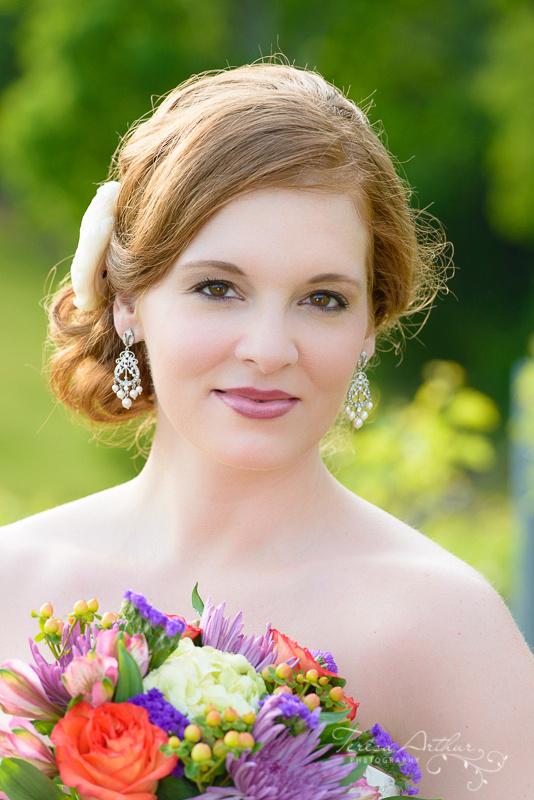 BRIDE PORTRAIT BY TERESA ARTHUR PHOTOGRAPHY