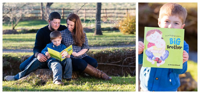 outdoor maternity family session