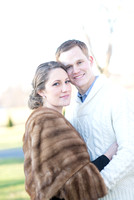 Outdoor winter engagement pictures by Teresa Arthur Photography