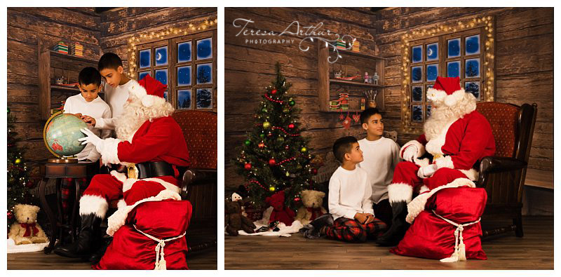 kids with santa 2016